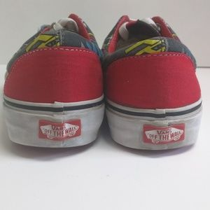 vans off the wall marvel iron man size 6.5 8 red popular